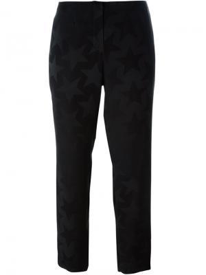 Укороченные брюки с принтом звезд Equipment. Цвет: чёрный