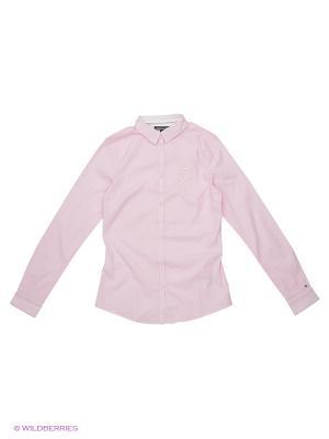 Блузка Tommy Hilfiger. Цвет: розовый