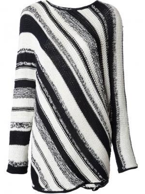 Вязаный свитер в полоску Spencer Vladimir. Цвет: чёрный