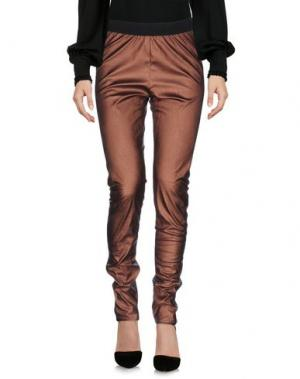 Повседневные брюки DEVOTION. Цвет: бронзовый