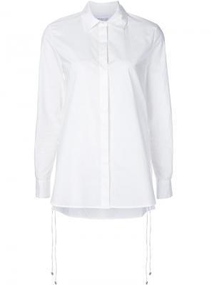 Рубашка с потайной застежкой Derek Lam 10 Crosby. Цвет: белый