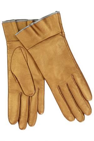 Перчатки Michel Katana. Цвет: бронзовый, металлизированный