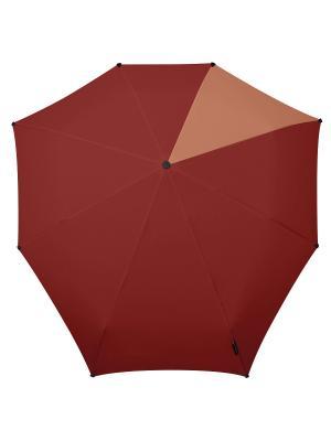 Зонт-автомат senz african red doubles. Цвет: бордовый, рыжий