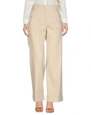 Повседневные брюки STEFANEL. Цвет: бежевый