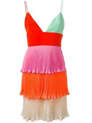 Tiered mini pleat dress Fausto Puglisi. Цвет: многоцветный