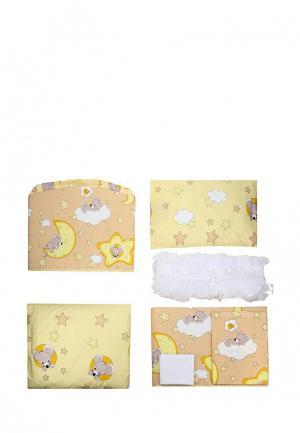 Комплект постельного белья Сонный Гномик. Цвет: разноцветный