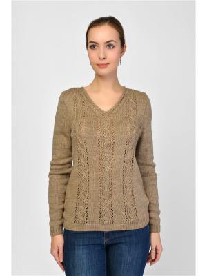 Пуловер Maria Velada. Цвет: бежевый