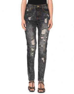 Джинсовые брюки DUCK FARM. Цвет: стальной серый