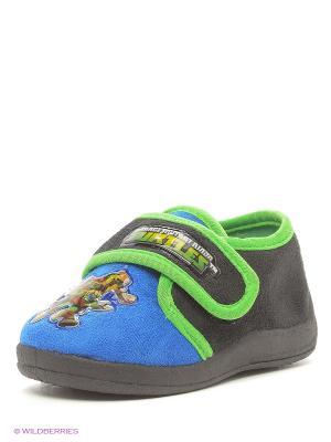Туфли Ninja Turtles. Цвет: голубой, черный, зеленый