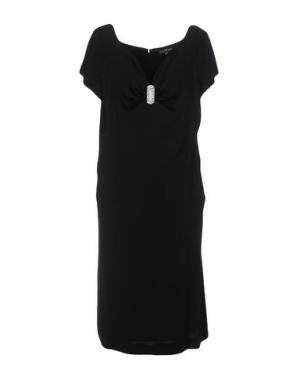 Платье до колена IVAN MONTESI. Цвет: черный
