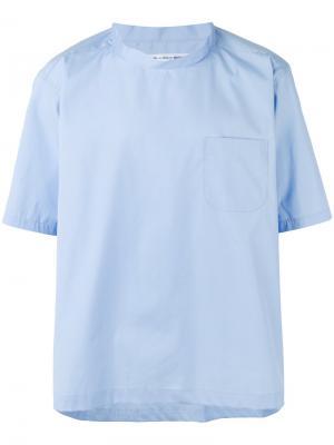 Рубашка с круглым вырезом Comme Des Garçons Shirt. Цвет: синий