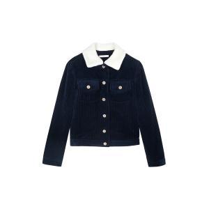 Куртка вельветовая на пуговицах  LUCHINO SESSUN. Цвет: темно-синий