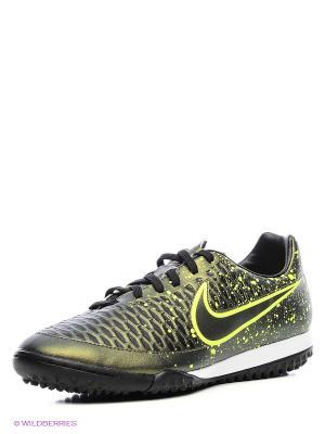 Шиповки MAGISTA ONDA TF Nike. Цвет: зеленый, золотистый