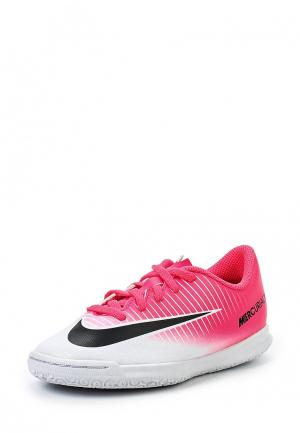 Бутсы зальные Nike. Цвет: розовый