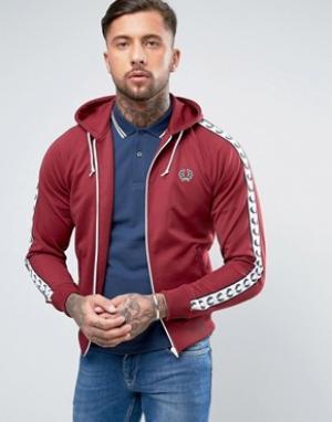 Fred Perry Красная спортивная куртка с капюшоном Sports Authentic. Цвет: красный