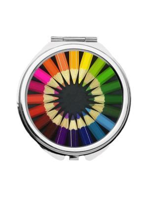 Зеркальце карманное Карандаши Chocopony. Цвет: салатовый, голубой, желтый