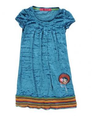 Платье CUSTO GROWING. Цвет: цвет морской волны