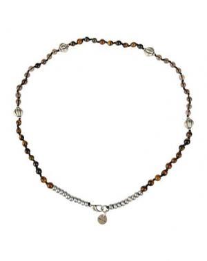 Ожерелье ELEVENTY. Цвет: коричневый
