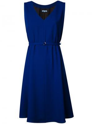 Платье с поясом Guild Prime. Цвет: синий