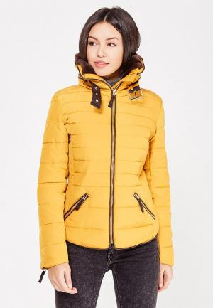 Куртка утепленная Jennyfer. Цвет: желтый