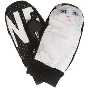 Варежки сноубордические  Character Mitt Cat Neff. Цвет: черный,белый