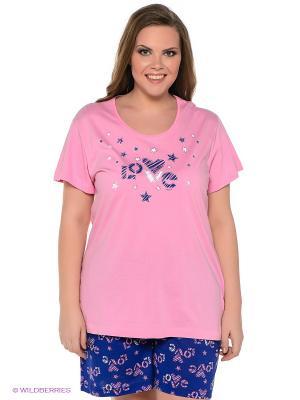 Комплект Vienetta Secret. Цвет: синий, розовый