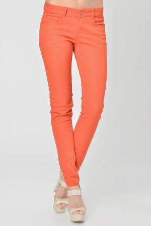 Брюки Christina Dea. Цвет: оранжевый