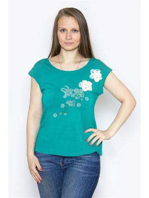 Блузка Vanrica Fashion. Цвет: зеленый