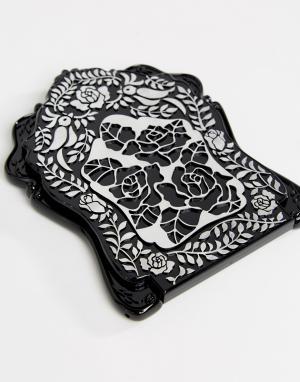 Anna Sui Зеркало с птицами и цветами. Цвет: черный