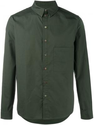 Рубашка с нагрудным карманом By Walid. Цвет: зелёный