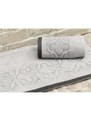 Набор махровых полотенец ЛАГУНА серый (50х90+70х140) TOALLA. Цвет: серый