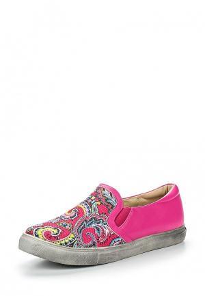 Слипоны Chic & Swag. Цвет: розовый