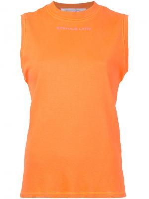 Топ без рукавов Eckhaus Latta. Цвет: жёлтый и оранжевый