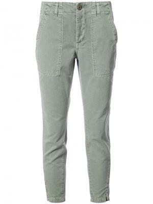 Укороченные брюки Amo. Цвет: зелёный