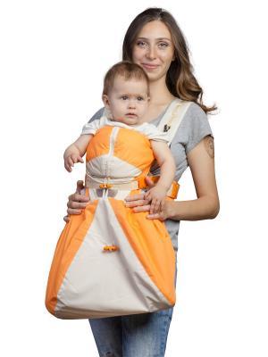Рюкзак-кенгуру BabyActive  Lux Чудо-Чадо. Цвет: бежевый, оранжевый