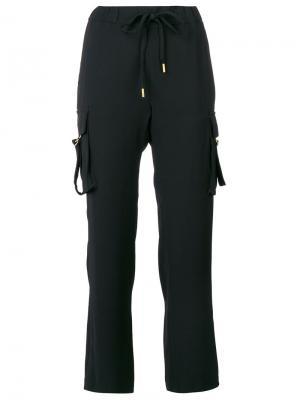 Укороченные брюки с эластичным поясом Michael Kors. Цвет: чёрный