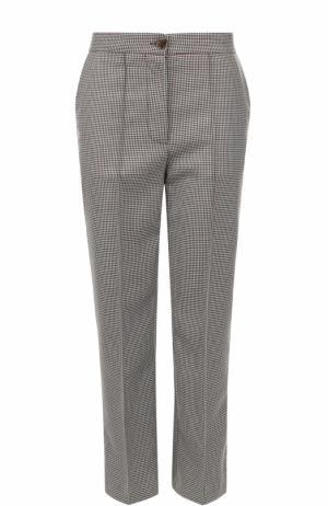 Укороченные брюки прямого кроя со стрелками Erika Cavallini. Цвет: разноцветный