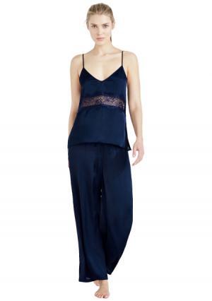 Пижама с брюками Womensecret Women'secret. Цвет: синий (темно-синий)