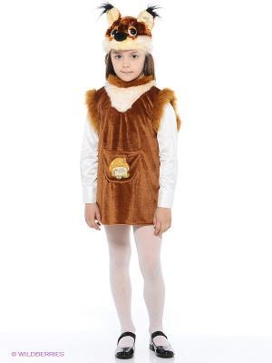 Карнавальный костюм Белочка с грибком Батик. Цвет: коричневый