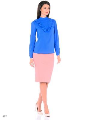Блузка FOR YOU. Цвет: синий
