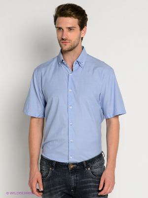 Рубашка Maestro. Цвет: голубой