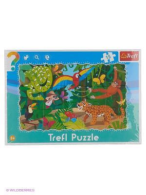 Пазл Trefl Тропические джунгли, 15 элементов. Цвет: зеленый