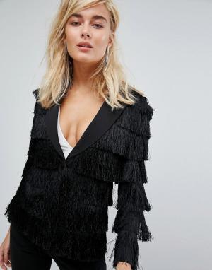 Lavish Alice Черная куртка. Цвет: черный