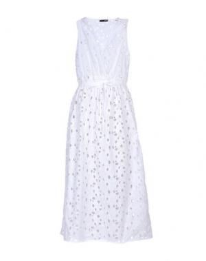 Платье длиной 3/4 .TESSA. Цвет: белый