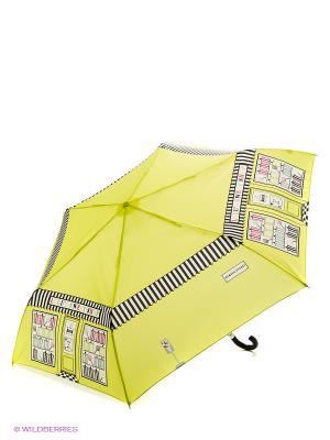Зонт женский механика Fulton. Цвет: желтый