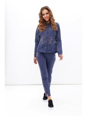 Костюм блуза+брюки ORHIDEA. Цвет: синий