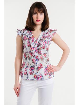 Блузка ESSA. Цвет: белый