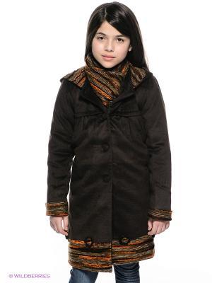 Пальто Baby Steen. Цвет: темно-коричневый