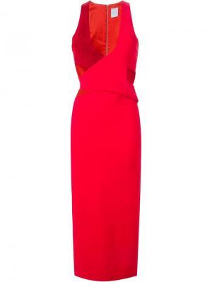 Платье без рукавов Dion Lee. Цвет: красный