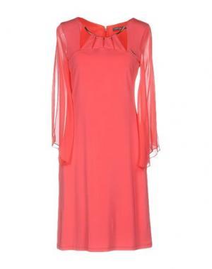 Короткое платье CARLA MONTANARINI. Цвет: коралловый